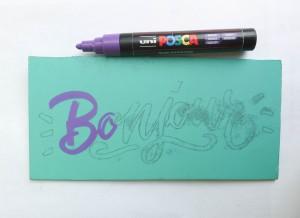 Pour la mise en peinture j'ai choisi un marqueur Posca.