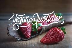 """Logo pour le blog """"Vegan au Quotidien"""